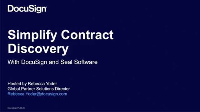 Simplify Contract Discovery with DocuSign + Seal