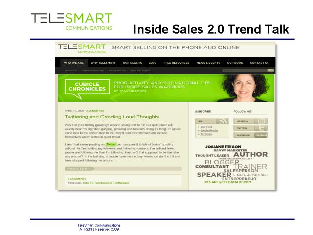 Learning 2.0- Fuel Food for Selling Smarter