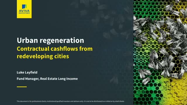 Urban regeneration: contractual cashflows from redeveloping cities