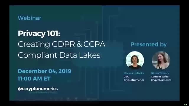 Privacy 101: Creating GDPR and CCPA Compliant Data Lakes