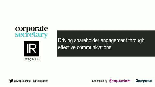 Webinar - Driving shareholder engagement through effective communications
