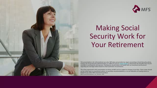 Making Social Security Work For Your Retirement