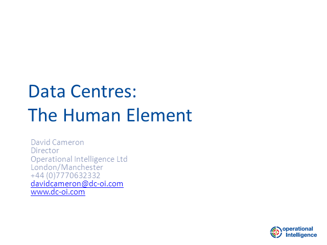 Data Centres: The Human Element