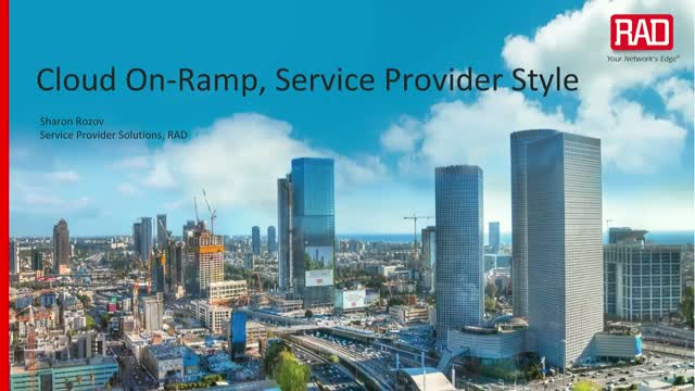 Cloud On-Ramp, Service Provider Style