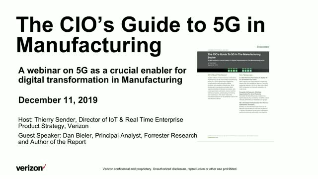 The CIO's Guide to 5G in Manufacturing