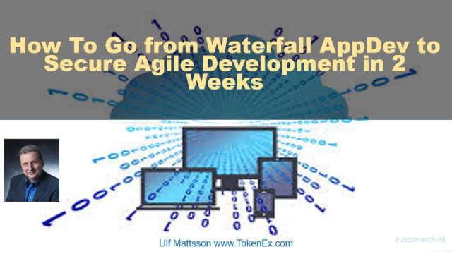 How To Go from Waterfall AppDev to Secure Agile Development in 2 Weeks