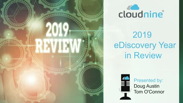 2019 eDiscovery Year in Review