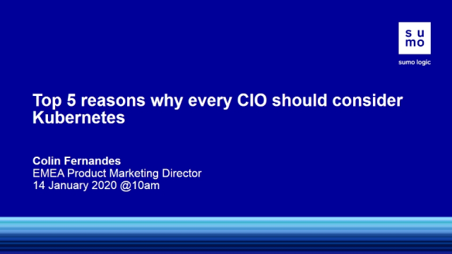 The Top 5 Business Reasons why every CIO should consider Kubernetes