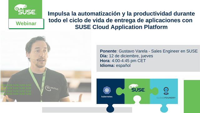 Impulsa la automatización y la productividad con SUSE Cloud Application Platform
