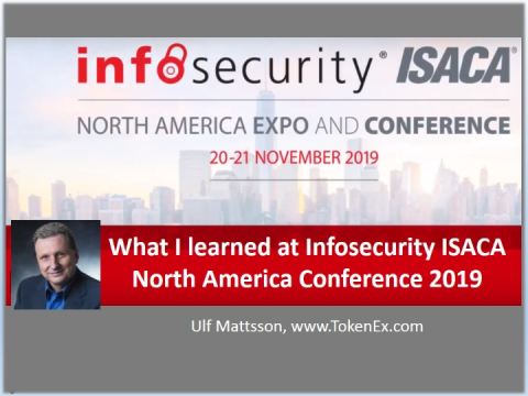 What I learned at the Infosecurity ISACA North America Conference 2019