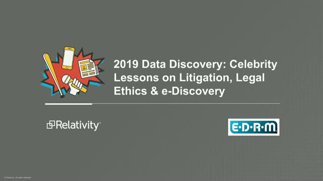 Top eDiscovery Celebrity Cases Mashup