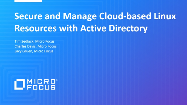 Secure and Manage Cloud-based Linux Resources with Active Directory