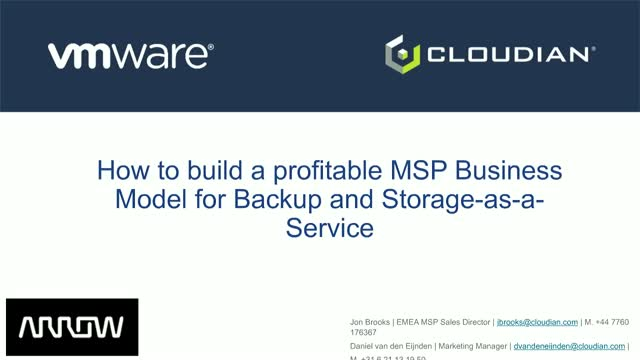 How to build a profitable MSP Business Model for Backup and Storage-as-a-Service