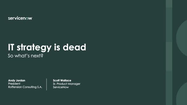Why IT Strategy is Dead