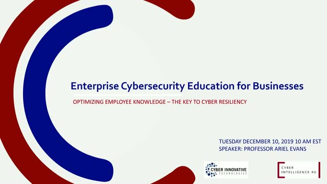 Cyber Risk Education for your Business – Cyber Maturity & Resilience