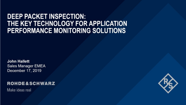 DPI: The Key Technology for Application Performance Monitoring Solutions