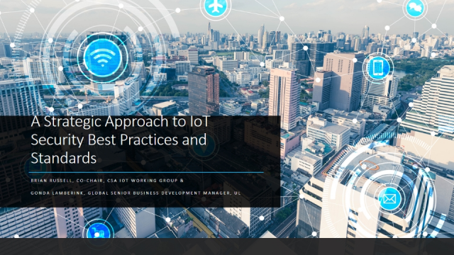 A Strategic Approach to IoT Security Best Practices and Standards