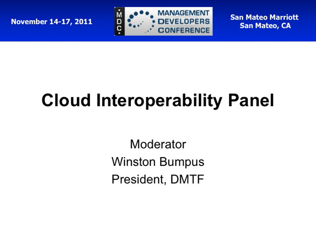 Cloud Interoperability Panel