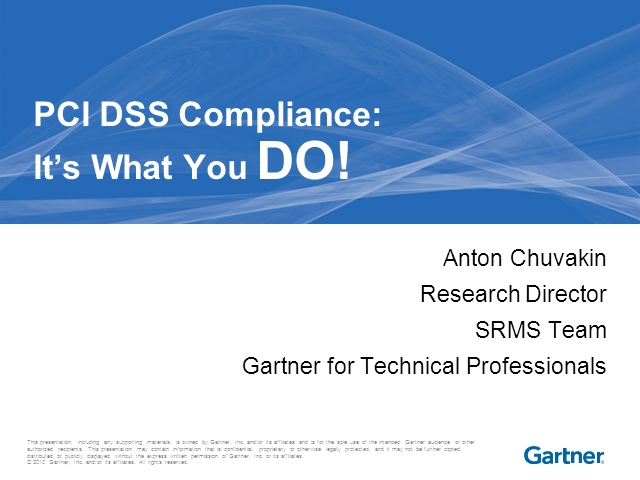 PCI DSS Compliance: It's What You DO
