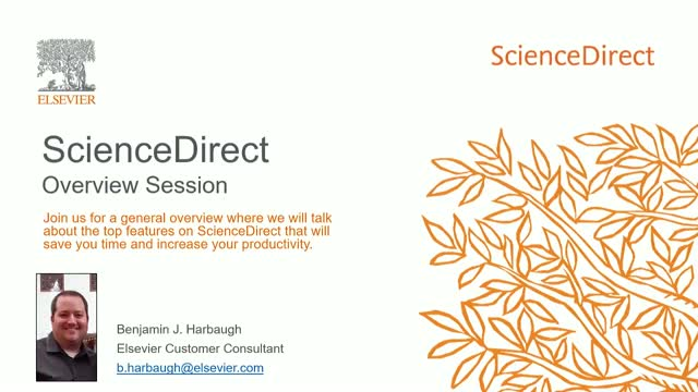 ScienceDirect - Overview Session