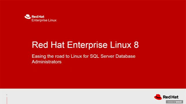 Managing Red Hat Enterprise Linux 8 for SQL Server Database Administrators