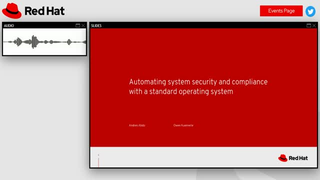 Automating system security and compliance with a standard operating system