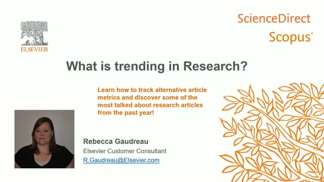 What's trending in research (PlumX)