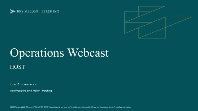 Operations Webcast