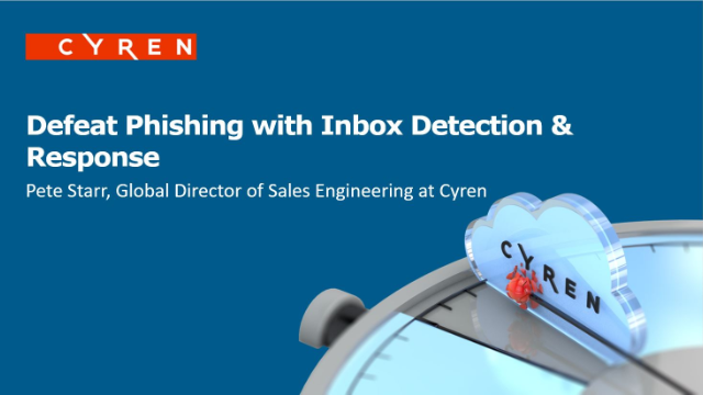 Defeat Phishing with Inbox Detection & Response