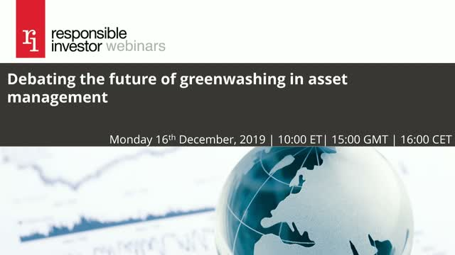 Cleaning greenwashing out of asset management
