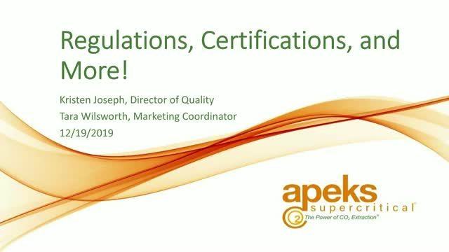Regulations, Certifications, and More!
