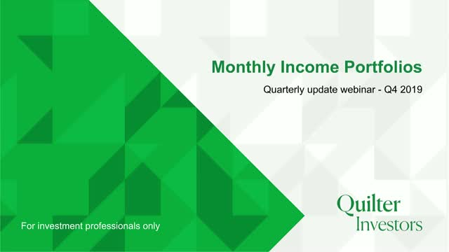 Quilter Investors Monthly Income Portfolios Q4 Update