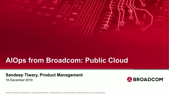 Public Cloud Monitoring Using AIOps from Broadcom