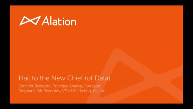 Hail to the New Chief (of Data)