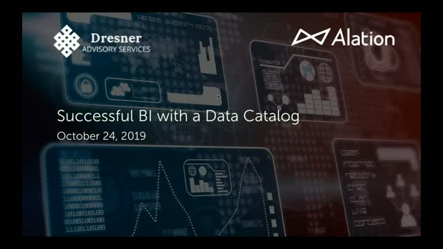 Successful BI with a Data Catalog