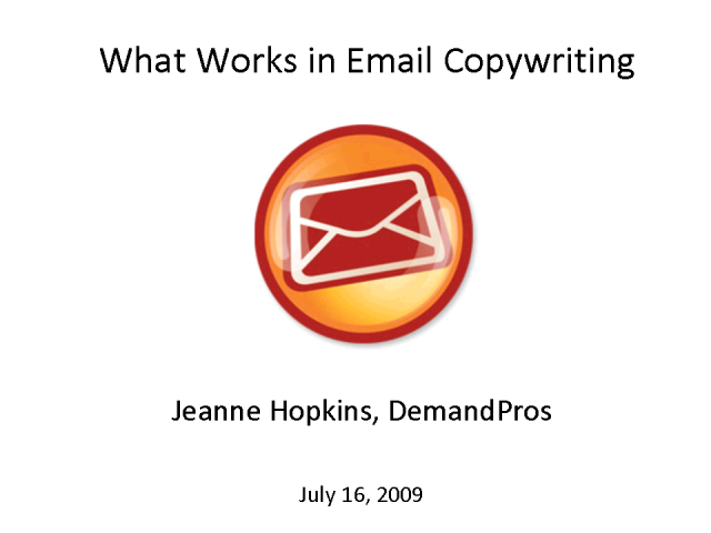 What Works in Email Copywriting