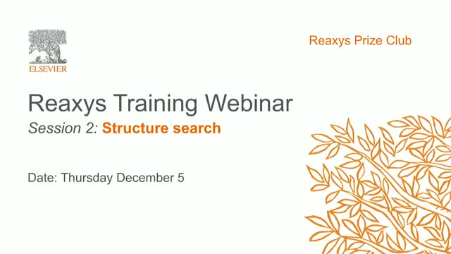 Reaxys training webinar