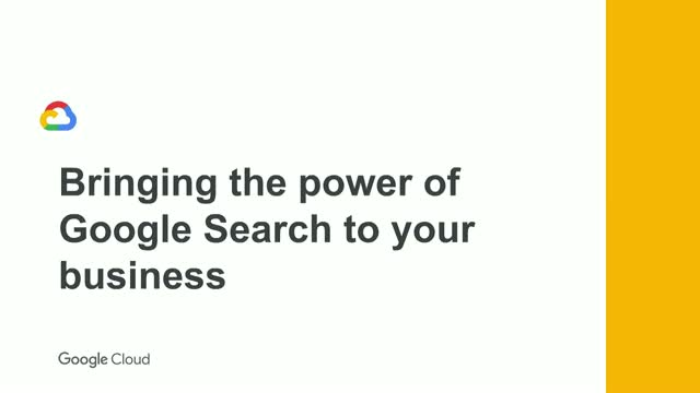 Bringing the power of Google Search to your business