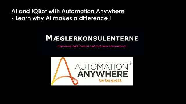 AI and IQBot with Automation Anywhere, learn why AI makes a difference!