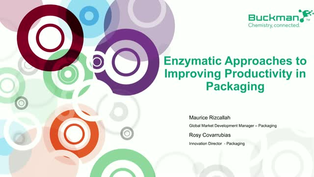 Enzymatic approaches to improving productivity in paper packaging
