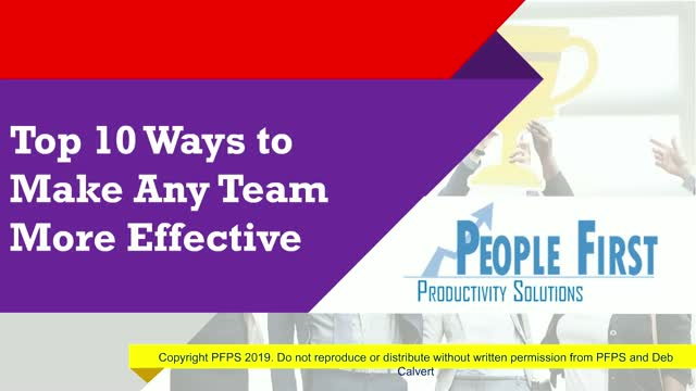 10 Ways to Make Any Team More Effective