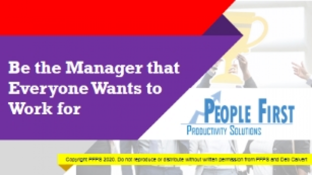 Be the Manager that Everyone Wants to Work for