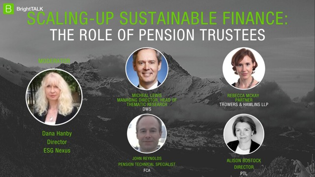 Scaling-up Sustainable Finance: The Role of Pension Trustees