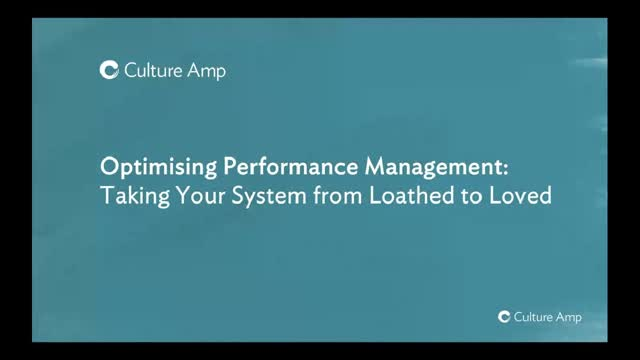 Optimising Performance Management: Take your system from loathed to loved