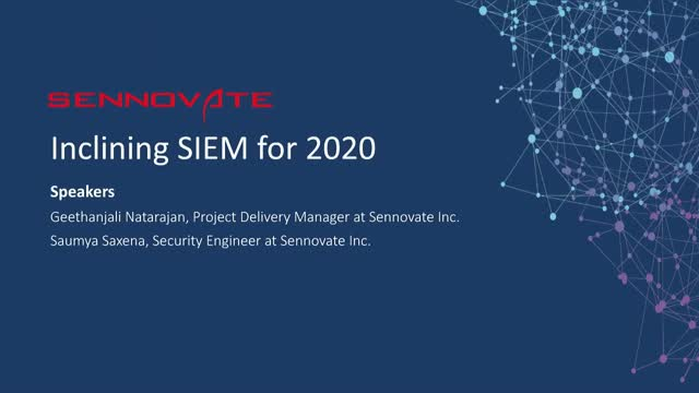 Inclining SIEM for 2020