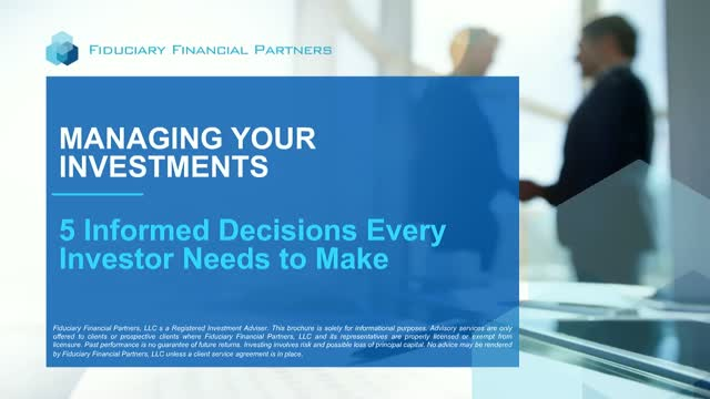 Managing Investments: Five Informed Decisions Every Investor Needs to Make