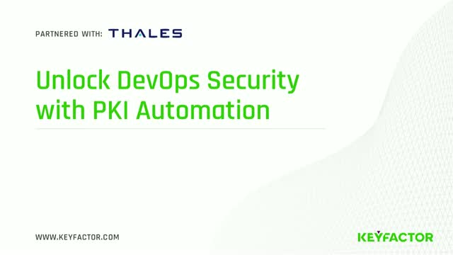 Unlocking DevOps Security with PKI Automation