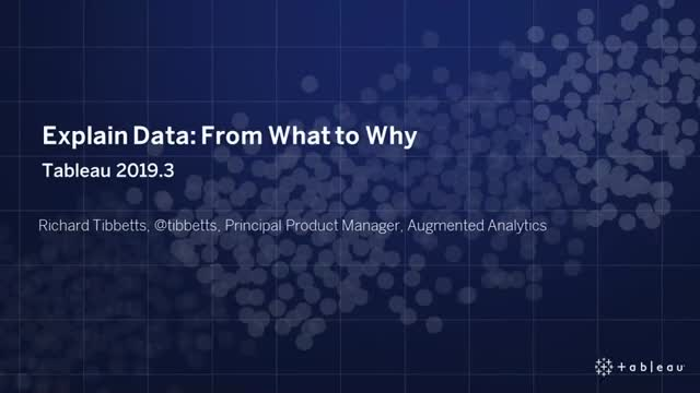 Explain Data: From What to Why