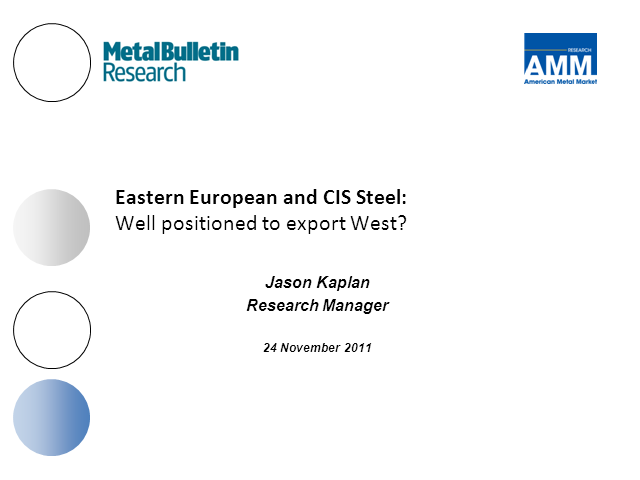 Eastern European steel: well positioned to export west?