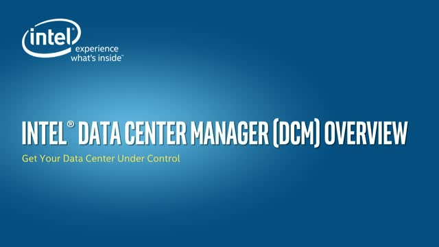 Intel presents how to better manage mixed data center environments